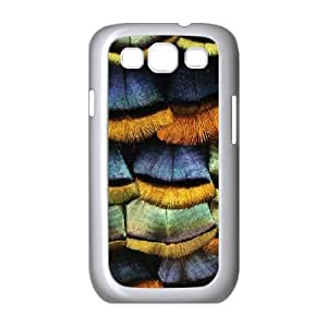 Jumphigh Feathers Samsung Galaxy S3 Cases Detail of a Turkey Feather, Feathers [White]
