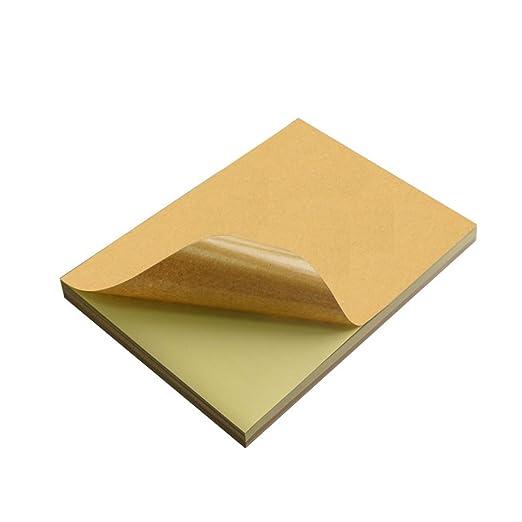 Analsisty - Pegatinas de papel kraft autoadhesivas para impresora ...