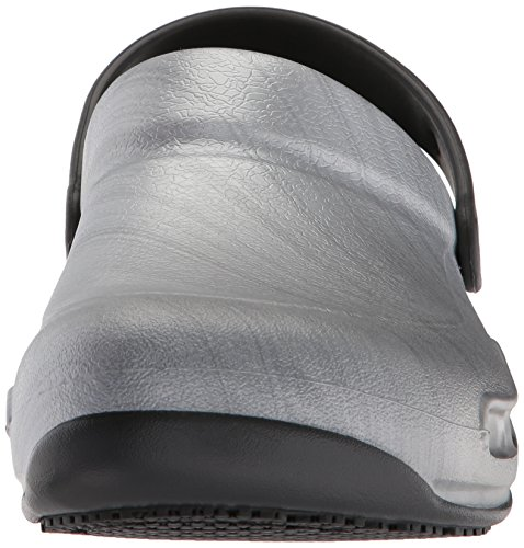 Crocs Bistro Graphic Unisex Adult Clogs Silver (Metallic Silver) 3eW6Os