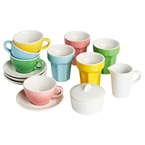 "Ikea DUKTIG 001.301.48 10-Piece Coffee/Tea Set, Multicolor, 13"","