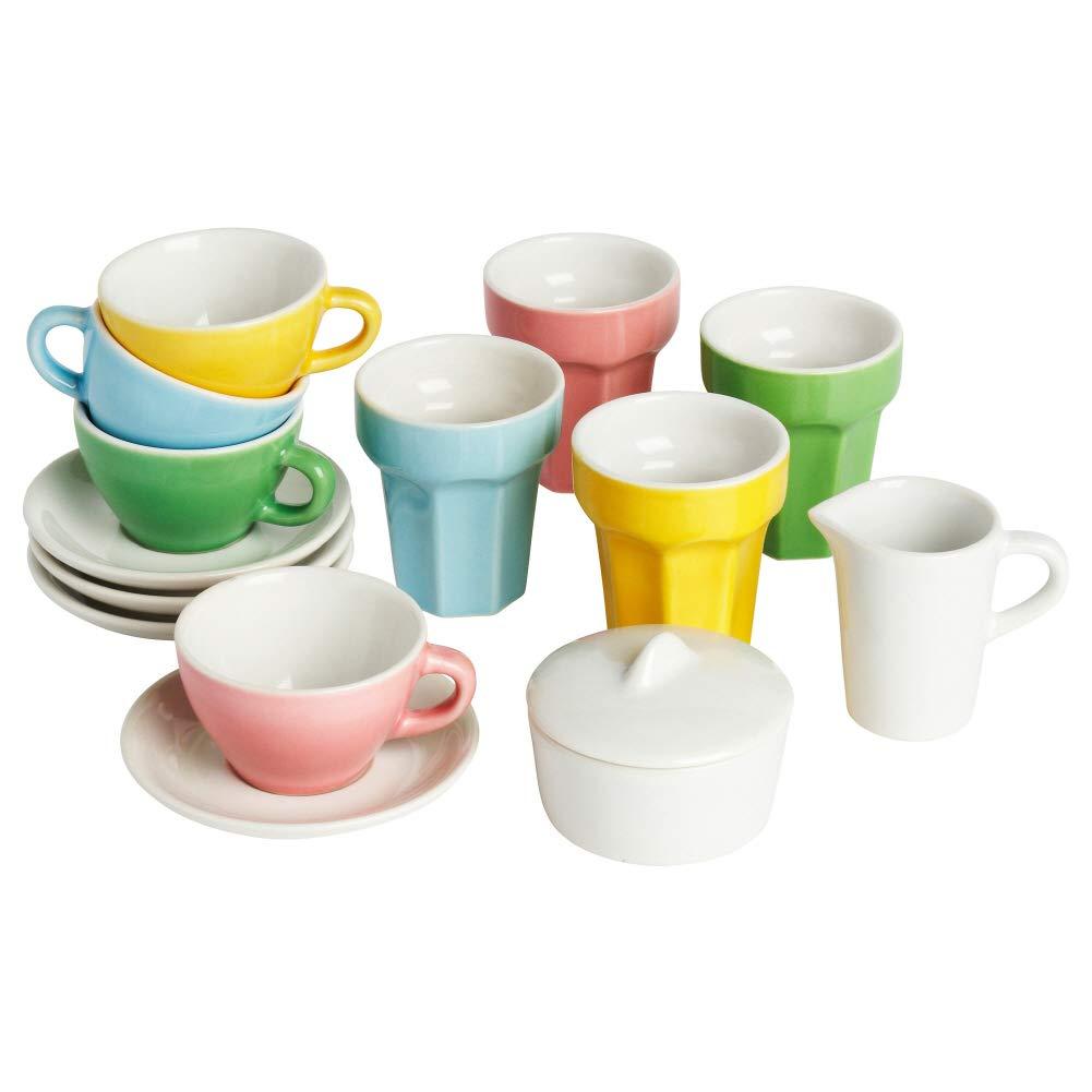 """Ikea DUKTIG 10-piece coffee/tea set, multicolor, 13"""""""