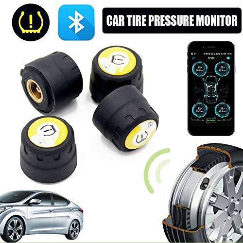 Tpms Bluetooth TPMS Universal con 4 sensores de presi/ón inal/ámbrica de neum/áticos