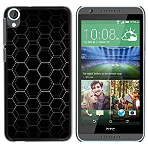 Be Good Phone Accessory // Dura Cáscara cubierta Protectora Caso Carcasa Funda de Protección para HTC Desire 820 // Abstract Hex Honeycomb