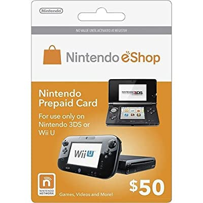 Nintendo Eshop Prepaid Card $50 for 3ds or Wii U by Unknown by Nintendo