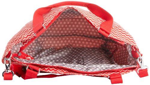 de unisex hombro material Kipling B Red Rojo GWENDOLYN Pr Rot de sintético Chevron Bolso w4w1UqX