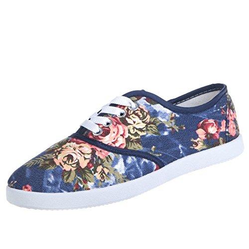 Ital-Design - zapatilla baja Mujer Varios Colores - Blau Multi