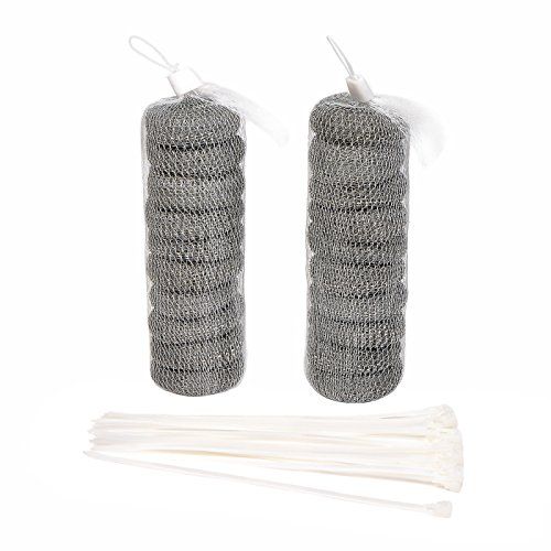 Price comparison product image 20 Pcs Washing Machine Lint Traps Laundry Mesh Washer drain hose lint trap with 20 Pieces Cable Ties