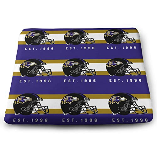 Jacoci Custom Baltimore Ravens Memory Foam Squared Seat Cushion for Office Chair Pad Size 15x14 Inches