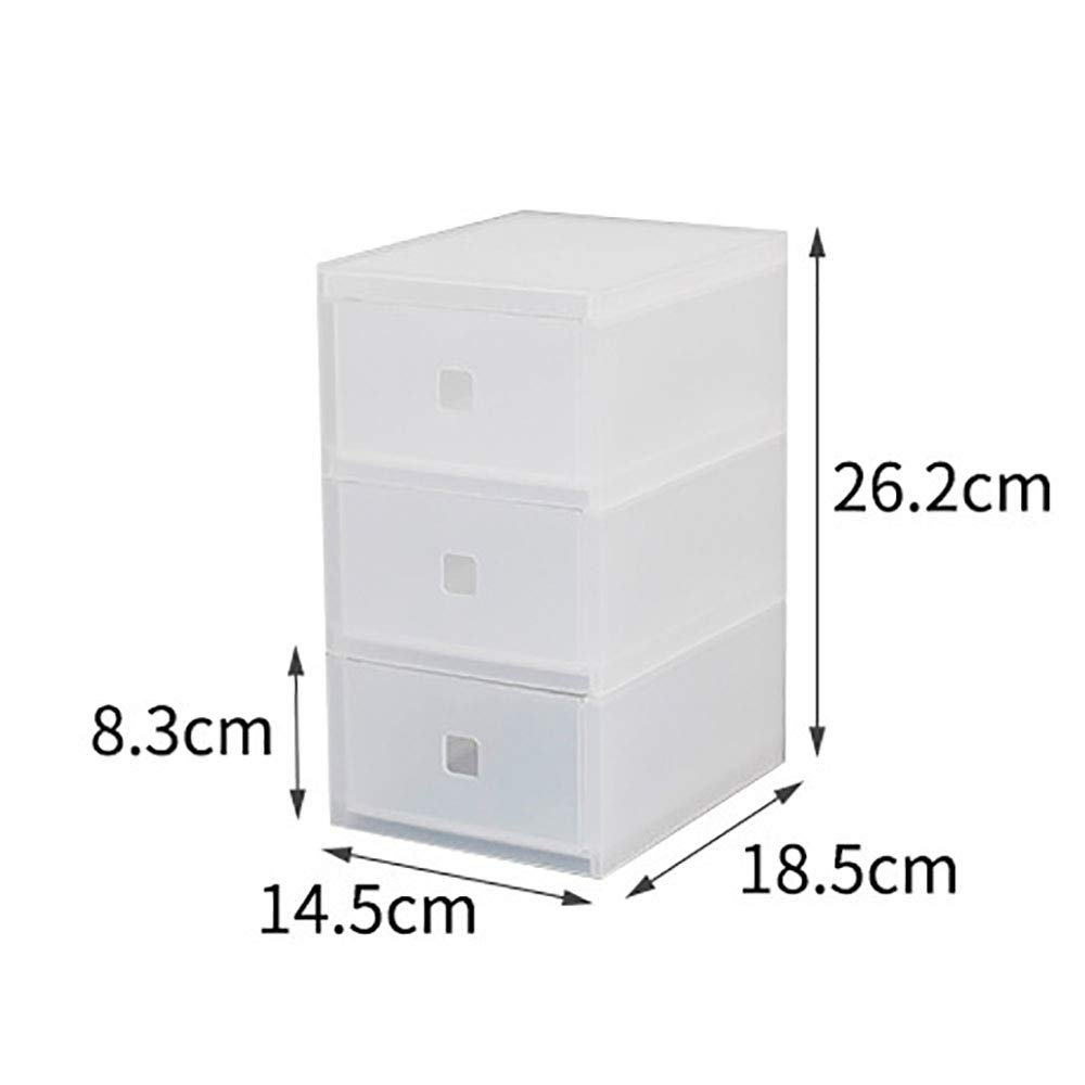Koloeplf 服の事務用品のおもちゃに最適な透明な多層引き出し収納ボックス (Color : Clear) B07Q822411 Clear