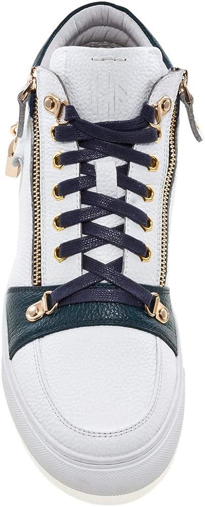 JUMP Men's Zappa Leather Mid Top Sneaker Navy