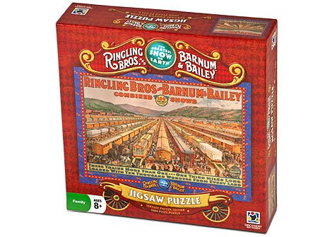 Ringling Bros. And Barnum & Bailey® 1000 Piece Puzzle - Vintage Poster Edition - Circus Trains (Ringling Bailey Barnum Bros Circus Train)