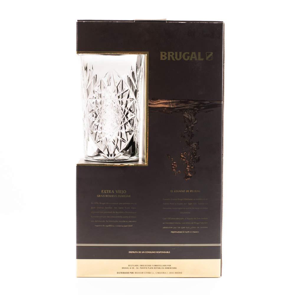 Estuche Brugal Extra viejo y Vaso. Ron Dominicano - 700 ml: Amazon.es: Alimentación y bebidas