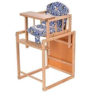 Amazon.com: costzon 2 en 1 – Mesa Madera silla Alimentación ...