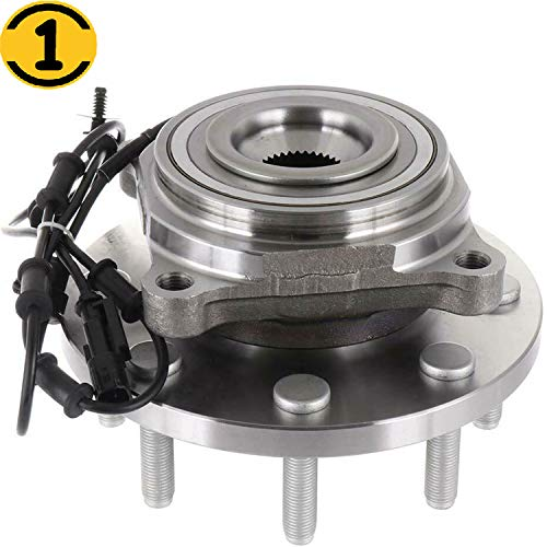 Front Wheel Bearing and Hub Assembly Fit 2012 2013 Dodge Ram 2500, Dodge Ram 3500 Hub Bearing w/ABS 8 Lugs, 4WD 4x4, Replace 515148