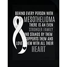 Behind Every Person With Mesothelioma There Is A Stronger Family - Sticker