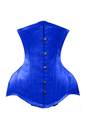 f8b3a3935d Image Unavailable. Image not available for. Color  luvsecretlingerie Heavy  Duty 26 Double Steel Boned Waist Training Satin Underbust Tight Shaper  Corset ...