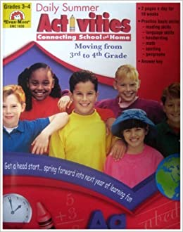 Book Daily Summer Activities, Moving From Third To Fourth Grade by Cheney, Martha, Evan-Moor Educational Publishers(January 1, 2000)
