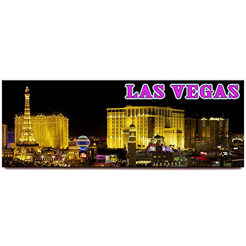 Las Vegas Strip panoramic fridge magnet Nevada travel souvenir