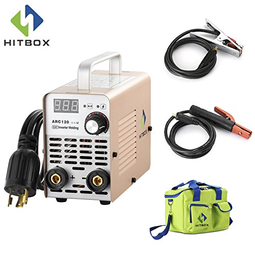 Stick 220V MMA Inverter Welding Machine Mini Portable Style 2.5mm Rod Stick Welder with Accessaries Earth Clamp Electrode and Toolbag (Earth Clamp)