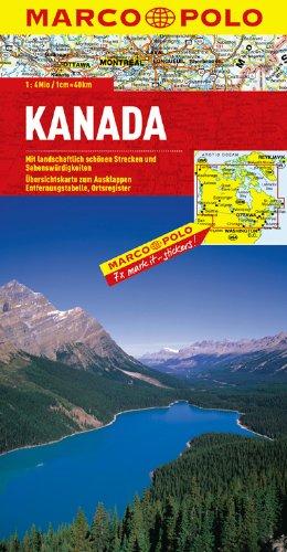 Carte du Canada - Echelle : 1/4 000 000 (Anglais) Broché – 29 janvier 2007 Marco Polo 3829739060 Voyages / Cartes et Plans Autokaarten