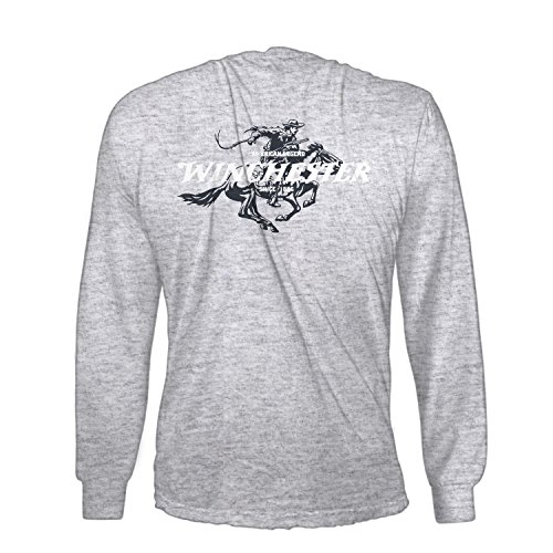 2b242f0a Winchester Official Mens Cotton Legend Rider Graphic Printed Long Sleeve T- Shirt