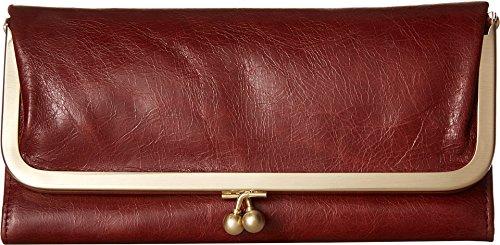 [Hobo International Womens Rachel Vintage Wallet Leather Clutch Purse (Mahogany)] (Hobo Purses)