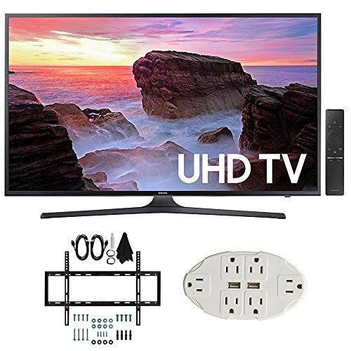 "Samsung UN43MU6300 43"" 4K Ultra HD Smart LED TV  w/Wall Moun"