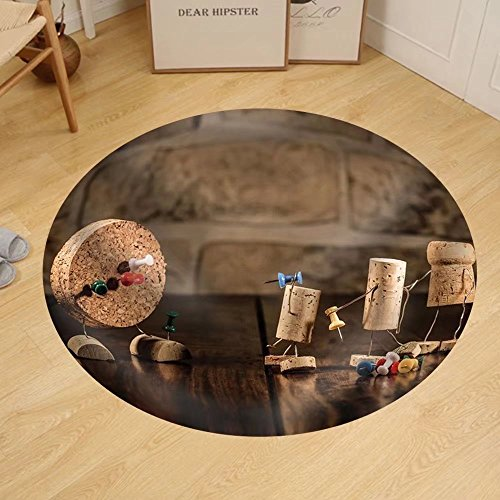 Gzhihine Custom round floor mat Concept Gaming Dart with Wine Cork Figures by Gzhihine