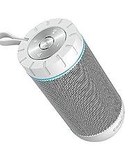 Altavoz Bluetooth Portatil, COMISO Ture Wireless Estereo 12W Subwoofer Inalambrico Portatil con Radiador Pasivo, Altavoz Bluetooth Impermeable con 36 Horas de Emision Continua, Gris Oscuro (Blanco)