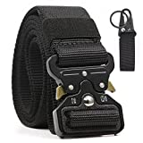 Chessun Men's Nylon Tactical Belt, 1.5'' Military Style Rigger Duty Belt Quick Release Metal Buckle 100% Full Refund Assurance