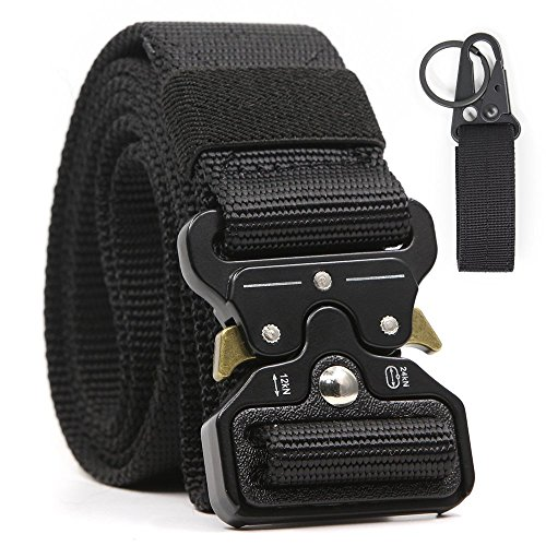 Chessun Men's Nylon Tactical Belt, 1.5'' Military Style Rigger Duty Belt Quick Release Metal Buckle 100% Full Refund Assurance by Chessun (Image #6)