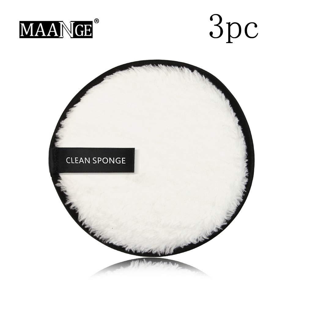 Marr/ón Sansee 3 Unidades Toalla Desmaquillante Facial Microfibra Lavable//Reutilizable,Maquillaje Remover Pa/ño,Remover Make Up Face Cloth