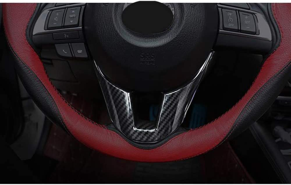 f/ür Mazda 3 axela 2014 2015 2016 XLTWKK kohlefaser lenkrad Pailletten Abdeckung Aufkleber innendekoration Trim zubeh/ör