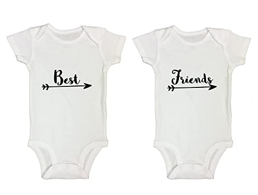 eceae7beb Amazon.com: Boys or Girls Twin Set of 2 Onesie Shirt