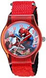 Marvel Boy's 'Spider-Man' Quartz Plastic and Nylon Casual Watch, Color Red (Model: WMA000225)