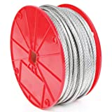 Koch 003162 Cable, 7 by 19 Construction, Trade Size 3/16 by 250 Feet, Galvanized Finish