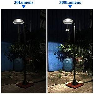 KANSTAR MF2030 Solar Power Motion Street Vintage Lamp Post Light Outdoor Garden, 300 Lumen