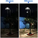 KANSTAR MF2030 Solar Power Motion Street Vintage Lamp Post Light Outdoor Garden, 300 Lumen