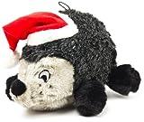 Outward Hound Kyjen  PP01873 Hedgehog Holiday Dog Toys Squeak Pet Plush Toy, Large, Grey