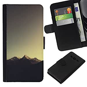 All Phone Most Case / Oferta Especial Cáscara Funda de cuero Monedero Cubierta de proteccion Caso / Wallet Case for Samsung Galaxy A3 // Mountain Tip