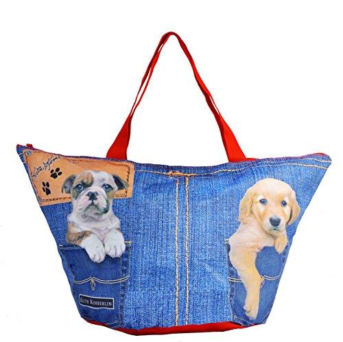 CORIEX Bolsa de tela y de playa, multicolor (Azul) - E92901 MC