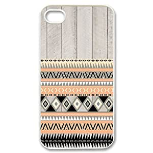 C-EUR Customized Print Aztec Tribal Pattern Back Case for iPhone 4/4S