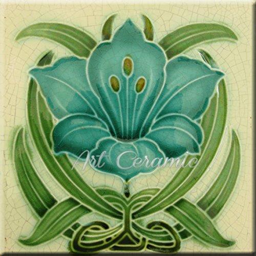 Art Nouveau Ceramic Tile 6 Inches Reproducction #261