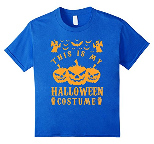 [Kids The Official This is my Halloween Costume Tee Shirt 4 Royal Blue] (Official Halloween Costumes)