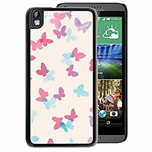 A-type Arte & diseño plástico duro Fundas Cover Cubre Hard Case Cover para HTC DESIRE 816 (Elephant Drawing Indian African White)