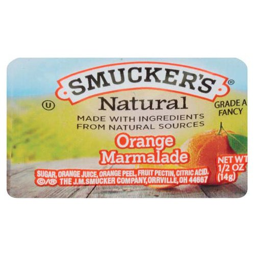 Smucker's Natural Orange Marmalade, 0.5 Ounce (Pack of 200)