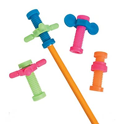 Fidget Pencil Toppers (4 Dozen): Health & Personal Care