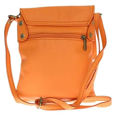 body Shoulder bag Pelle Genuine Leather Italian Orange Small Vera Messenger Cross bag Yqxafgpz