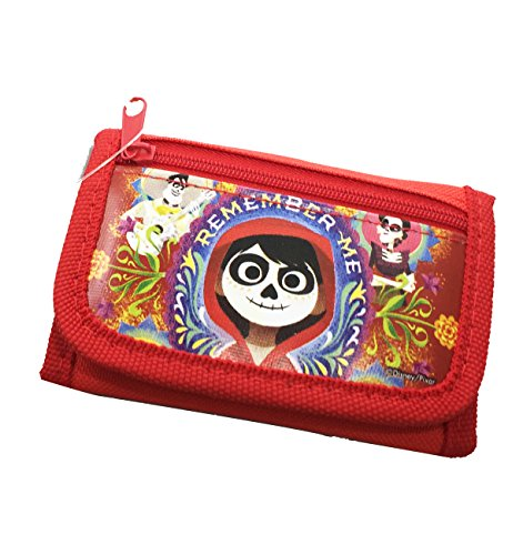 Price comparison product image Kids Size Disney Movie Licensed COCO Tri-Fold Wallet RED COLOR
