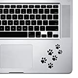 StickAny Palm Series Pawprints Sticker for MacBook Pro, Chromebook, and Laptops (Black)
